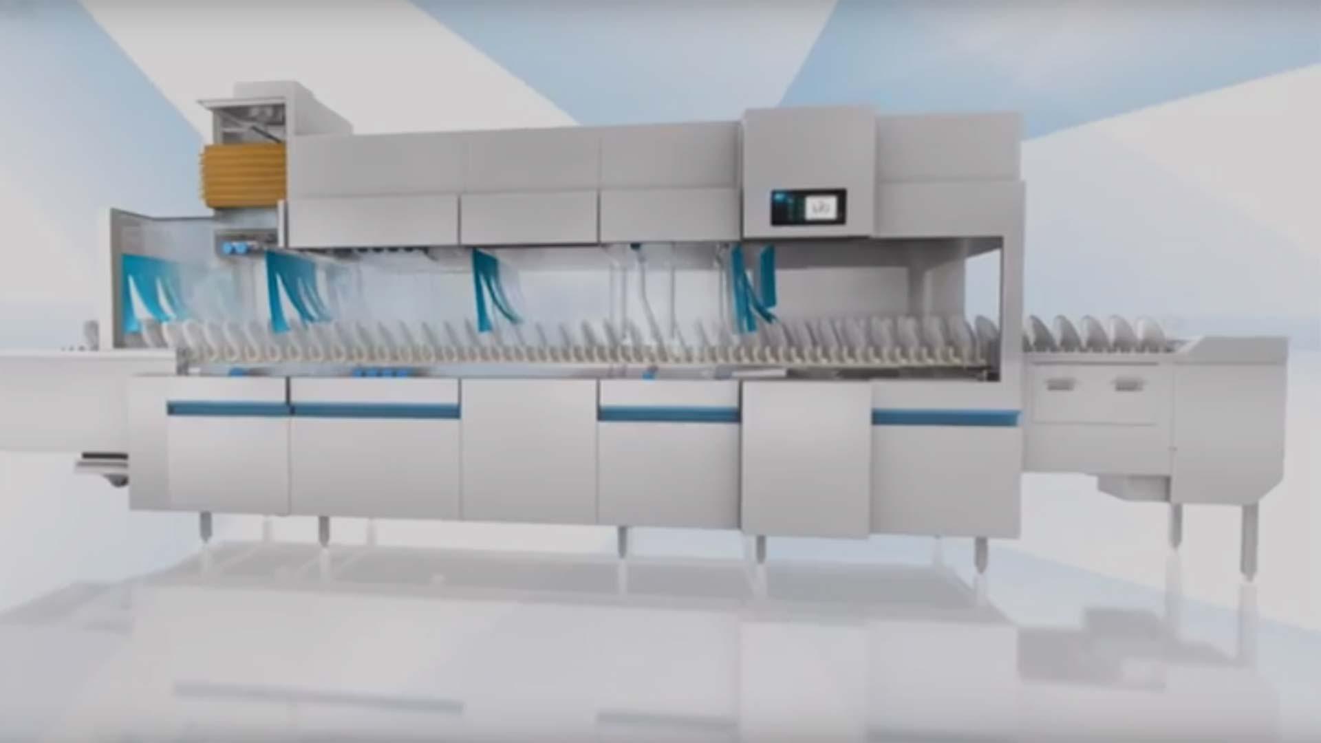 Lave vaisselle industriel convoyeur m iq meiko for Machine plonge restaurant